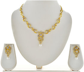 Asian Pearls & Jewels Pearl and Diamond Necklace Set
