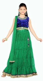 MID AGE Elegant Blue Girl's Party Wear Lehenga Choli Set