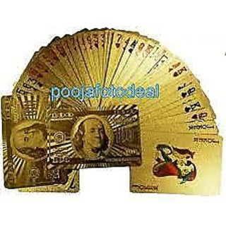 Golden Playing Cards gold foil poker