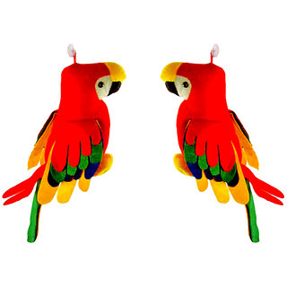 Musical Multicolor stuffed Parrot soft toys 30cm set of 2