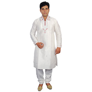 Anjaneya Mens Designer  off white Sherwani