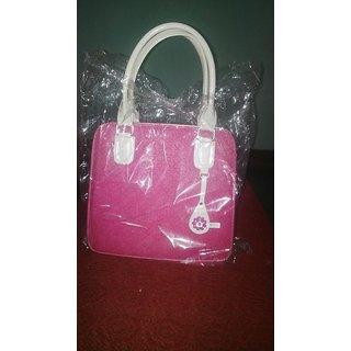 Designer Handbag In Pink Colour
