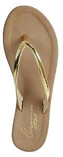 gold flip flop