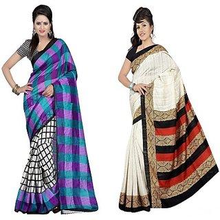 Muta Fashions Comely Bhagalpuri Sari Pack Of 2