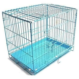 PET CLUB 51 HIGH QUALITY STAINLESS STEEL DOG CAGES -SKY BLUE -MEDIUM 18 INCHES
