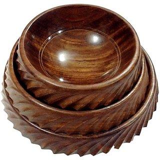Mavi Wooden Bowl Set of 3-MWB-929