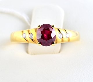 Burmese Ruby Ring Oval Shape