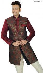 JI HAJEE Indo Western Anmol 2 Men's Velvet Sherwani