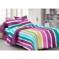 Story @ Home 240 TC 100% Cotton Purple 1 Double Bedsheet With 2 Pillow Cover