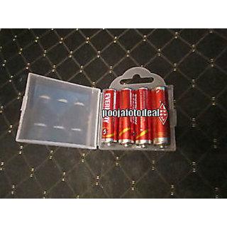 5 pcs new hard plastic case holder storage box aa aaa battery white colour