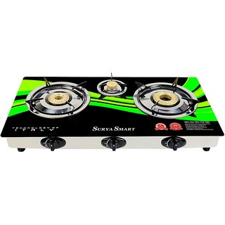 SURYA SMART GAS STOVE AUTOMATIC 3 BURNER