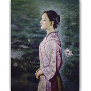 Vitalwalls - Portrait Painting Canvas Art Print (Oriental-078-30)
