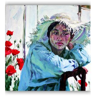 Vitalwalls - Portrait Painting Canvas Art Print (Oriental-085-45)