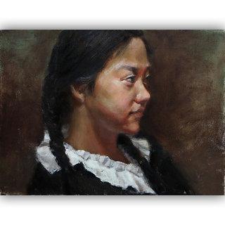 Vitalwalls - Portrait Painting Canvas Art Print (Oriental-086-60)