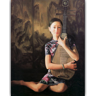 Vitalwalls - Portrait Painting Canvas Art Print (Oriental-088-45)