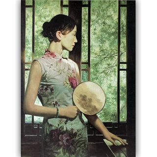 Vitalwalls - Portrait Painting Canvas Art Print (Oriental-092-45)