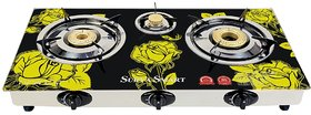SURYA SMART GLASSTOP AUTOMATIC 3 BURNER