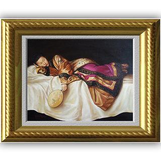 Vitalwalls - Portrait Painting Canvas Art Printoriental-097-F-60)