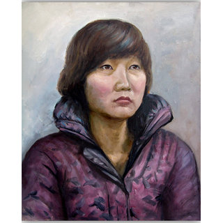 Vitalwalls - Portrait Painting Canvas Art Print (Oriental-100-45)