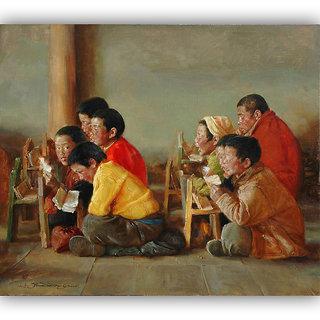Vitalwalls - Portrait Painting Canvas Art Print (Oriental-104-60)