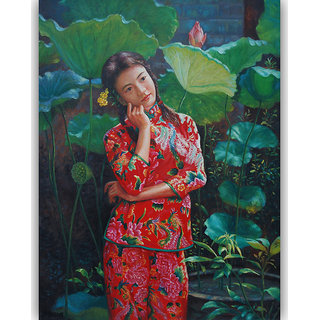 Vitalwalls - Portrait Painting Canvas Art Print (Oriental-105-45)