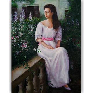 Vitalwalls - Portrait Painting Canvas Art Print (Oriental-106-45)