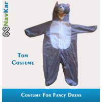 Popular Tom Cartoon Character Costume For Kids Small Size 4 - 7 Years