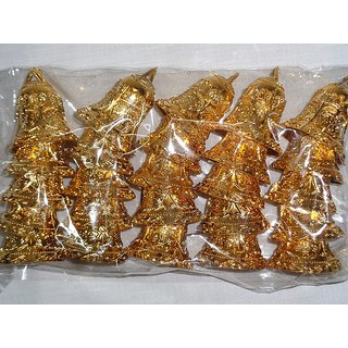 Christmas Golden Bells - 10 pieces Medium Size