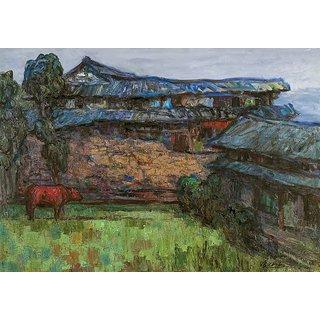 Vitalwalls Landscape Painting Canvas Art Print (Landscape-340-F-45Cm)