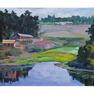Vitalwalls Landscape Painting Canvas Art Print (Landscape-343-60Cm)
