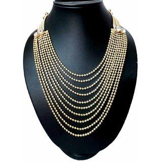 Modish Look Gold Queenly Elegant NecklaceWomens Jewellery