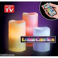Luma Color Changing Flameless LED Light Candle With Remote