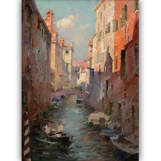 Vitalwalls Landscape Painting Canvas Art Print (Landscape-135-45Cm)