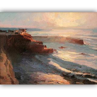 Vitalwalls Landscape Painting Canvas Art Print (Landscape-137-60Cm)
