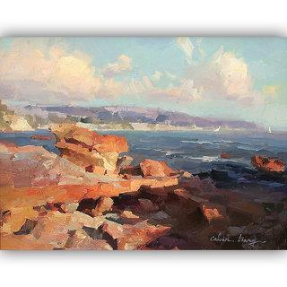 Vitalwalls Landscape Painting Canvas Art Print (Landscape-141-60Cm)