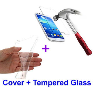 Meizu M2 4G (5 INCH) Transparent Soft Jelly Back Cover + Tempered Glass