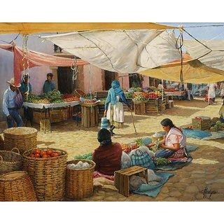 Vitalwalls Landscape Painting Canvas Art Print (Landscape-349-60Cm)