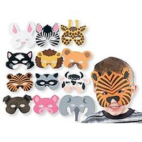 Funcart Animal Foam Eye Masks (Pack Of 3) Assorted Designs