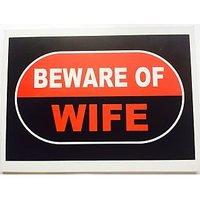 Funcart Beware Of Wife Photo Booth Board