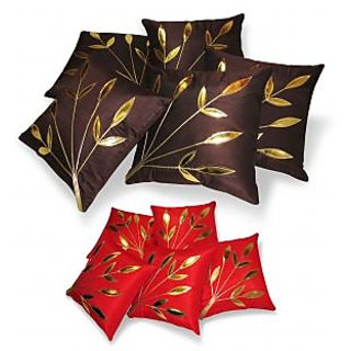 Regular And Small Cushion Covers Combo-Pack of 10 pcs (B5S5-19)