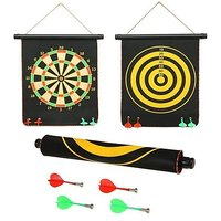 Funcart Double-Sided Foldable Dart Board - 4 Magnetic Darts