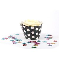 Funcart Cupcake Wrapper 20Pcs With Black Polka Dots