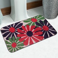 Soft Cotton Abstract Printed Bath Mat 50X80 Cm -1Pc (SOS-478-RED)