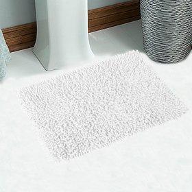 Soft Cotton Saggy Bath Mat 40X60 Cm -1Pc (SOS-6-WHITE)