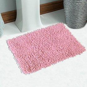 Saral Home Pink Cotton Bath Mat (24X16 Inch)