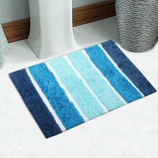 Soft Cotton Bath Mat 50X80 Cm -1Pc (SOS-505-BLUE)
