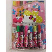 Funcart Funcart Hello Kitty Theme Coloring Book With Sketch Pen Set