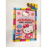 Funcart Funcart Hello Kitty Coloring Book With Crayons.