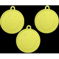 Funcart Helium Plastic Ballon Weight Smiley Face Round Shape-Yellow Color