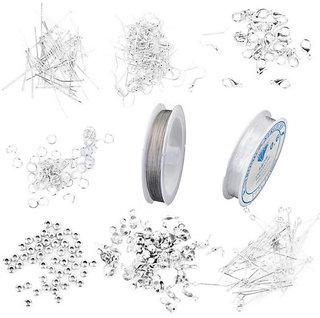 Jewelry Craft Making Starter Kit DIY Findings Cord Thread Crimp Earring Hook